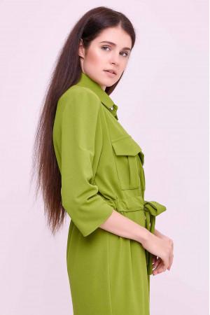Платье «Астра» зеленого цвета