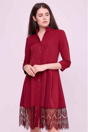 Платье «Дайзи» красного цвета