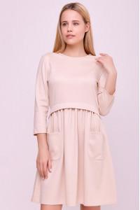 Сукня «Мадалін» кольору пудри
