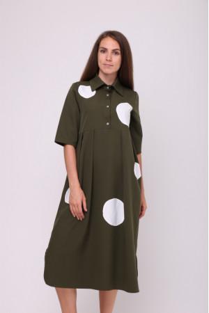 Платье «Мона» цвета хаки