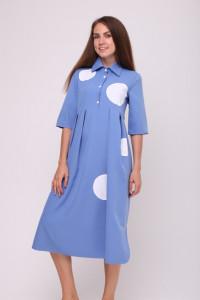Платье «Мона» голубого цвета