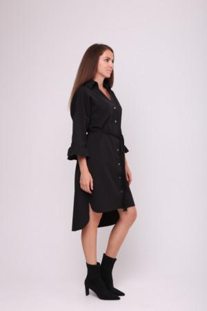 Платье-рубашка «Одрия» черного цвета