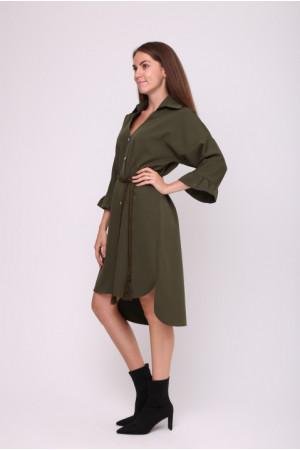 Сукня-сорочка «Одрія» кольору хакі
