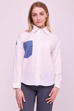 Блуза «Рубі» білого кольору