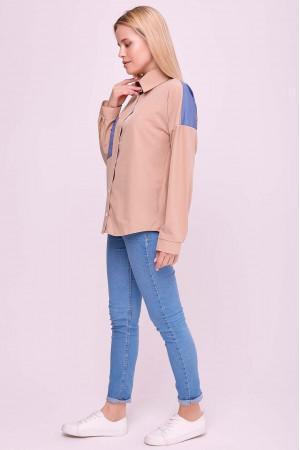 Блуза «Рубі» бежевого кольору