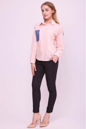Блуза «Рубі» кольору пудри