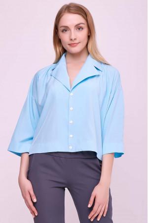Блуза «Івет» блакитного кольору
