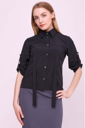 Блуза «Лорет» черного цвета