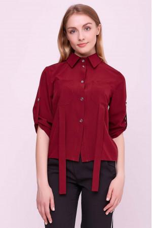 Блуза «Лорет» бордового цвета