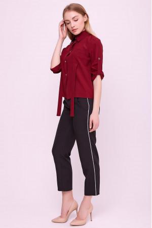 Блуза «Лорет» бордового кольору