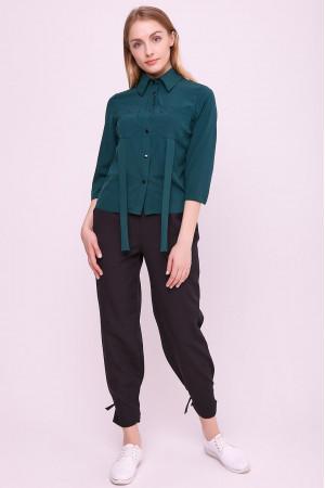 Блуза «Лорет» изумрудного цвета