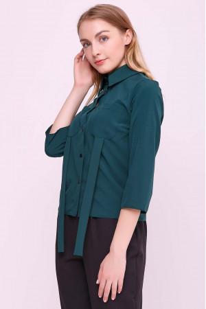 Блуза «Лорет» смарагдового кольору
