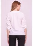 Блуза «Новіта» білого кольору