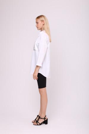Блуза «Камея» білого кольору