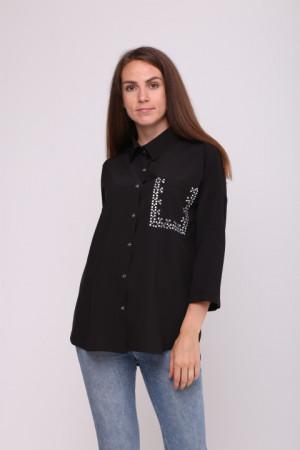 Блуза «Камея» черного цвета