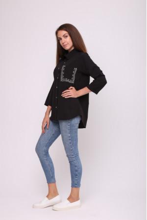 Блуза «Камея» чорного кольору