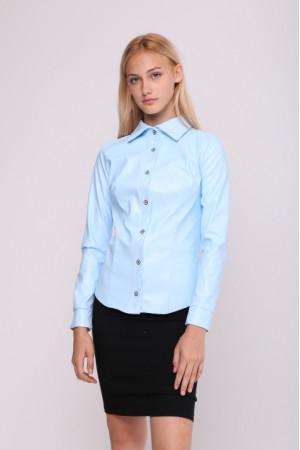 Блуза «Шаника» голубого цвета