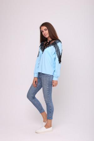 Блуза «Белла» блакитного кольору