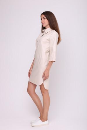 Платье-рубашка «Морис» бежевого цвета