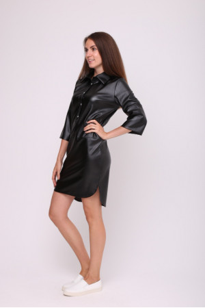 Сукня-сорочка «Моріс» чорного кольору