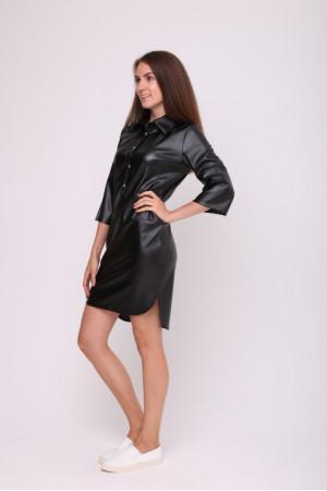 Платье-рубашка «Морис» черного цвета