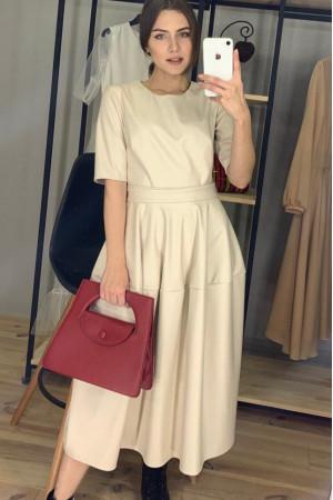 Сукня «Владлена» бежевого кольору