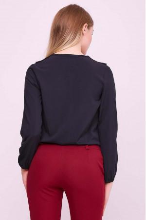 Блуза «Елла» чорного кольору