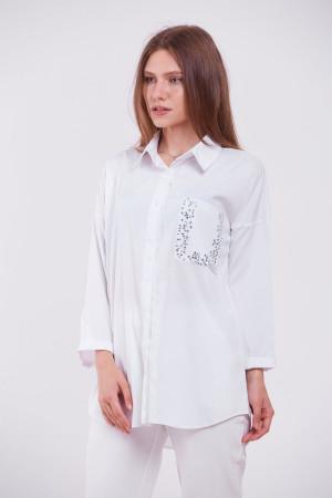 Блуза «Галочка» белого цвета