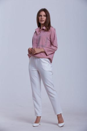 Блуза «Галочка» кольору попелястої троянди