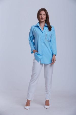 Блуза «Галочка» блакитного кольору