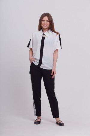 Блуза «Контраст» білого кольору