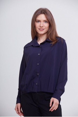 Блуза «Белста» темно-синього кольору