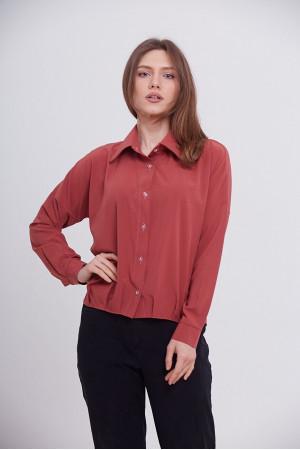 Блуза «Белста» терракотового цвета
