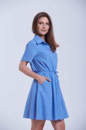 Платье «Злата» голубого цвета
