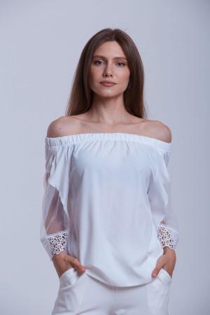 Блуза «Китиця» білого кольору