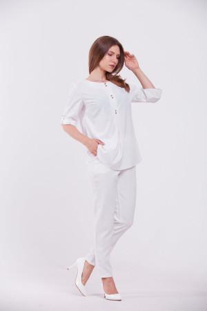 Блуза «Гудзик» білого кольору