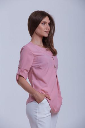 Блуза «Гудзик» кольору попелястої троянди
