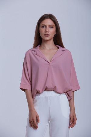 Блуза «Берта» кольору попелястої троянди