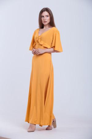 Платье «Ярина» цвета горчицы