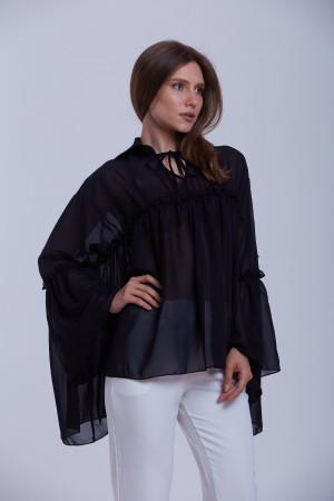 Блуза «Алла» чорного кольору