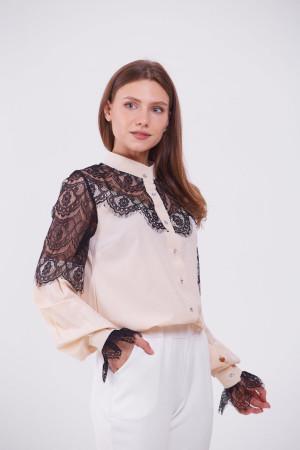 Блуза «Ажур» бежевого кольору