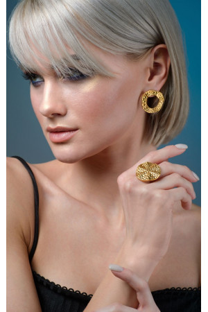 Перстень «Місячне Плато» (золото)