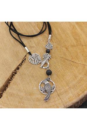 Кулон «Тропики» микс серебро