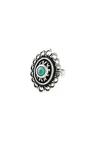 Перстень «Романія. Ажур» бірюза