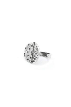 Перстень «Місяць» сріблястого кольору