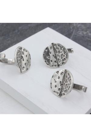 Кольцо «Луна» серебристого цвета