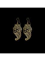 Серьги «Совушка ажурная», бронзового цвета