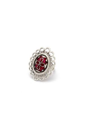 Перстень «Романія. Візантійський хрест» емаль, рубін