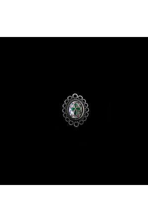 Перстень «Романія. Візантійський хрест» емаль, смарагд