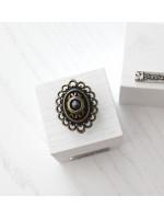 Перстень «Романія» ажур, гематит